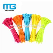 Nylon vert autobloquant cravate zip attache chaîne 100 * 3mm avec disponible en différentes couleurs, UL94-V2, approbation CE