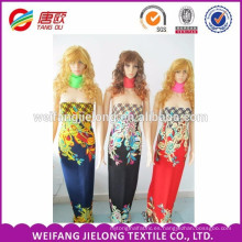 Diseñador de proveedor de China al por mayor Tejido personalizado de impresión de tela de rayón para la ropa
