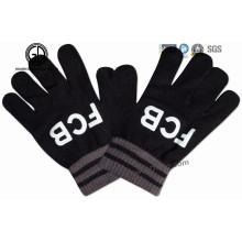 Kundenspezifischer Heiß-Verkauf Acryl gestrickter Winter-Handschuh / warmer Handschuh