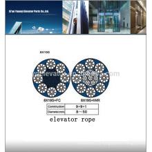 Cuerda de alambre del elevador 8x19S-10.00mm, cuerda de alambre de acero del elevador