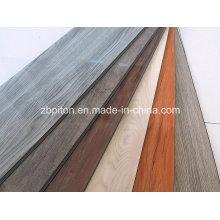 Plancher de vinyle de PVC de 5.0mm colorfully avec le système de clic