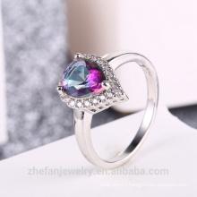 elegant modern jewelry set mystic heart shape stone jewelry for girls