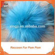 Grossiste Fourrure de raton laveur Pom Pom
