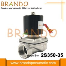 G1 1/4 '' válvula solenóide de aço inoxidável 2S350-35