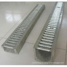 Agua de lluvia en forma de U que estampa el canal de drenaje del concreto del polímero