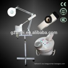 2014 nuevo vaporizador vapor facial con máquina de cuidado de la piel de la lámpara de aumento