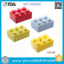 Colorful Decoration Lego Ceramic Money Box