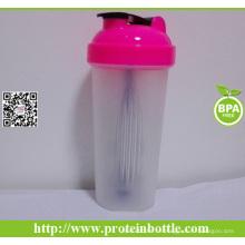 Botella del agitador del gimnasio del suplemento 700ml con la bola del alambre