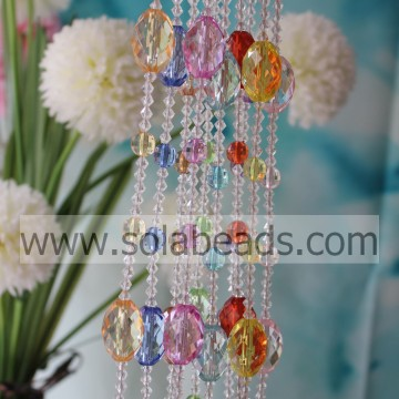 Pasen 6MM & 12MM & 30 MM draad acryl kristal Beaded Garland trimmen