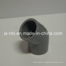 Coude en plastique PVC de 45 degrés pour l'utilisation de la construction