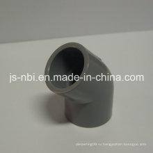 Пластиковые локти из ПВХ 45 градусов для строительства