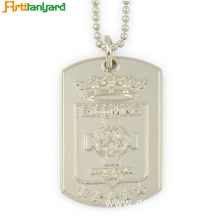 China Gold Supplier for Custom Dog Tag Men's Dog Tags With Embossed Logo supply to South Korea Factories