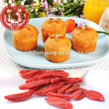 Goji orgânico certificado em frutas secas para ingredientes alimentícios