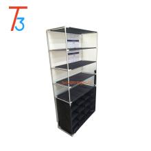 6 tier 16 compartments plastic and metal shoe rack handbag storage organizer