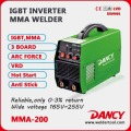 Simple machine de soudeuse de Phase convert intelligent MMA-200-V4