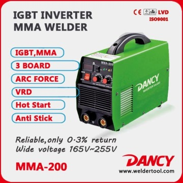 Single Phase intelligent convert MMA-200-V4 welder machine