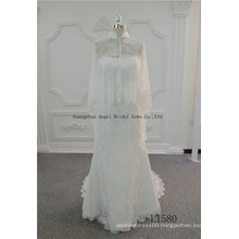 New Arrival Plus Size Bridal Wedding Dress with Keyhole Back