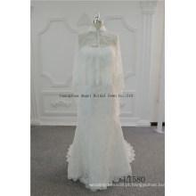 Chegada nova mais o vestido de casamento nupcial do tamanho com parte traseira do buraco da fechadura