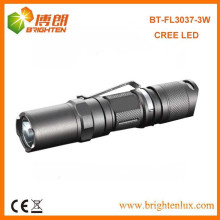 Venta caliente EDC alta luminosa 1AA o 14500 celda Powered 3w / 5w Cree aluminio mini led linterna de bolsillo con clip de antorcha