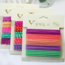 Mädchen Mode Candy Farbe Schraube Gummi elastische Haarbänder (JE1585)