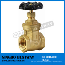 Válvula de compuerta de latón Wog 200 con precio inferior (BW-G01)
