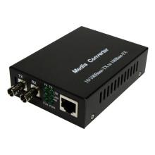Convertidor de medios, multimodo, Fast Ethernet, 2 km, conector St