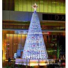 12 футов высокое качество гигантский напольный освещенную веточку коммерческих елки