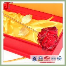 6 * 6 * 30cm Rose Ouvert Crystal Glass Flower (JD-CF-102)