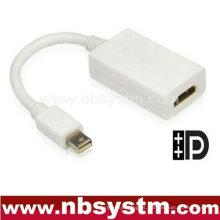 Mini adaptador de cabo DP para HDMI Cabo 15CM dp