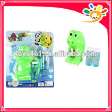 Full automation cute cartoon frog bubble machine toy electric bubble machine with two bottles of bubble water