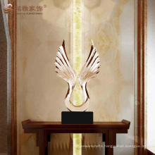 Customize 3D resin eagle wing sculpture for interior decoration