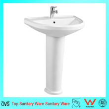 Lavatório de lavagem de mão com lavatório de pedestais novo