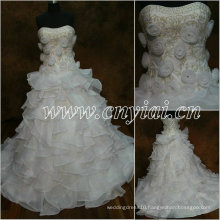 JJ2862 Beaded white Ball Gown embroidery Bridal Dress 2013