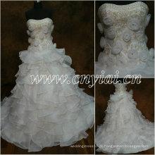 JJ2862 Beaded branco vestido de baile bordado vestido de noiva 2013
