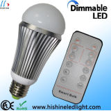 Epistar Chip 9w Led Bulb Indoor Illumination  Dimmable Led Lights 3 Years Warranty