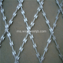 Galvanized dan Plastic-sprayed Razor Wire