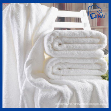 100% Cotton 800g Thick White Bath Towel (QHB0995b)