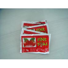 Pasta de tomate de sachê de alta qualidade de 70g para a Nigéria