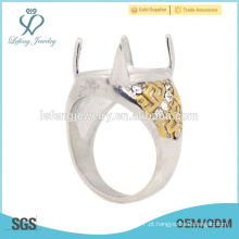Fancy em aço inoxidável Prata e Ouro projeta homens anéis da Indonésia, anéis bonitos