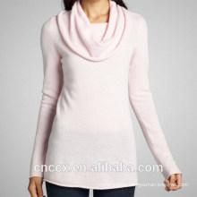 15STC3005 cowl neck cashmere tunic