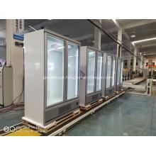 Congelador vertical com porta de vidro duplo para sorvete