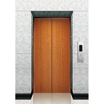 Ascensor puerta de aterrizaje de revestimiento de madera
