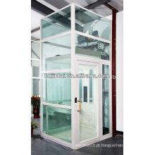 Elevador residencial preço casa barato elevador madeira decoração varão de vidro indoor pequeno elevador exterior