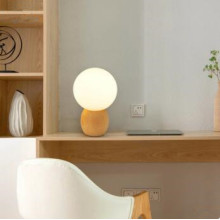 Modern Glass Lampshade Hotel Led Desk Lamp
