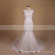 Robe de mariée en satin à manches longues les plus récent Sirène