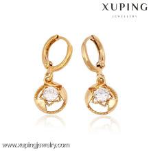 (90074) Xuping moda alta qualidade 18k banhado a ouro brinco