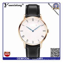 YXL-656 loco venta cuero reloj Unisex marca sus propios relojes OEM su propia insignia de Brand′s ver