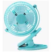 Ventilador de 2 niveles de velocidad del viento USB mini ventilador de carga con abrazadera-azul
