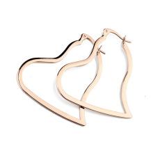 Оптовые золотые ювелирные изделия моды цинкового сплава серьги розового золота цинкового сплава сердце серьги