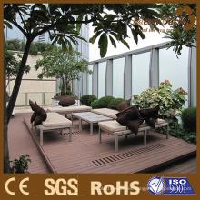 Foshan Composite Mix Color Grain Interior Courtyard Diseño Solid Decking Floor